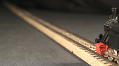A model train is passing through Stock Footage