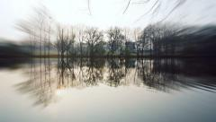 Lake in Germany with zoom effekt Stock Footage
