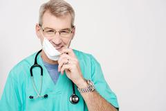 Don't worry, patient is recovering ! - stock photo