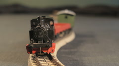 Locomotive is Zigzagging into the camera - stock footage