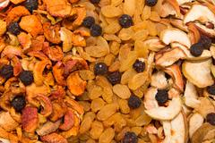 A mixture of dried fruits as a background Kuvituskuvat