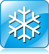 Stock Illustration of cold blue square icon