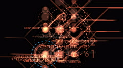 4k numbers & words scrolling across the screen,finance digital tech data backgr Stock Footage