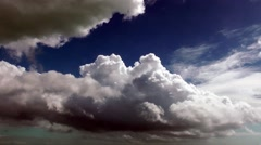 Cumulonimbus clouds storm clouds moody atmosphere Stock Footage