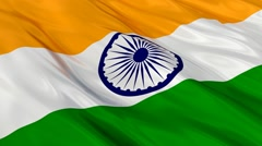 India flag Seamless Stock Footage