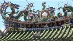 Chinese clan temple, Yap kongsi, Georgetown, Penang, Malaysia, pan - stock footage