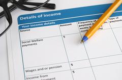 Income details Stock Photos