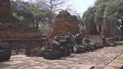 Wat Rachaburana at the Ayutthaya Historical Park in Thailand - stock footage