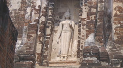 Wat Rachaburana at the Ayutthaya Park in Thailand - stock footage