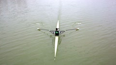 Canoeing rowing Stock Footage