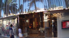 Dior Store And Logo On Rodeo Drive- Beverly Hills CA - stock footage