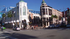 Rodeo Drive And Dayton Way Intersection- Beverly Hills CA Stock Footage