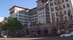 The Beverly Wilshire Hotel- Beverly Hills California Stock Footage