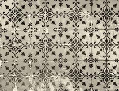 Vintage azulejos, traditional Portuguese tiles - stock photo