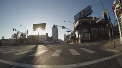 Driving By The Whiskey A-Go-Go On Sunset Boulevard- Los Angeles CA Stock Footage