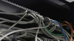 network cables close-up - stock footage