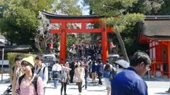 Kyoto, Japan - March 28, 2015 : Kiyomizu-dera in Temple Kyoto, Japan Stock Footage