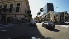 Driving On Rodeo Drive Beverly Hills California Part 1 Stock Footage