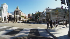Driving On Rodeo Drive Beverly Hills California Part 3 Stock Footage