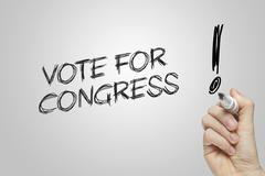 Hand writing vote for congress Stock Illustration