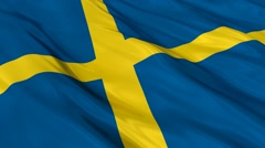 Sweden flag Seamless Stock Footage