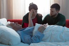 Terminally ill cancer patient - stock photo
