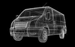 delivery van - stock illustration