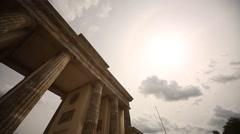 Brandenburg Gate in Berlin, Germany - stock footage