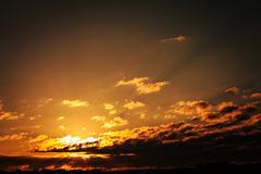 Sky background on sunrise - stock photo