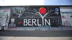 Berlin Wall, Germany - stock footage