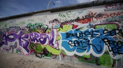 Berlin Wall, Germany Stock Footage