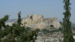View Greek Acropolis In The Sunlight Stock Footage
