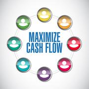 Maximize cash flow contacts illustration design Piirros