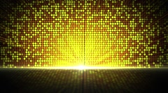 Golden Circles Blinking and Glowing Background Stock Footage