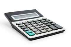 Calculator on a white background Stock Photos