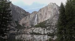 Yosemite Falls 1 Early Spring California - stock footage
