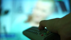 Tv Remote Control Stock Footage
