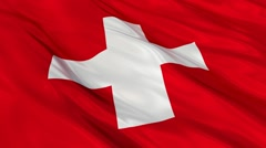 Switzerland flag waving Seamless Stock Footage