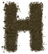 Stock Photo of Alphabet of soil. Block capitals. Letter H
