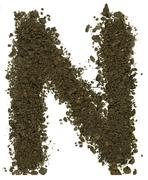 Stock Photo of Alphabet of soil. Block capitals. Letter N