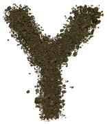 Stock Photo of Alphabet of soil. Block capitals. Letter Y