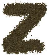 Alphabet of soil. Block capitals. Letter Z - stock photo