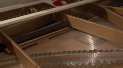 Grand Piano Strings And Interio - stock footage