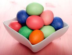 Studio shot of easter eggs - stock photo