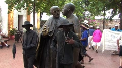 South America People Statue Stock Footage