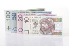 Stock Photo of Polish currency - studio shot