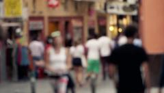 Crowd of people walking in the city, slow motion shot at 120fps HD Stock Footage