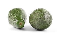 Stock Photo of Avocado on white background - studio soht