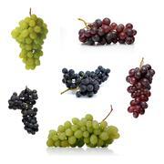 Stock Photo of Grapes on white background - studio shot