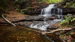 Onondaga Falls Ricketts Glen Stock Footage